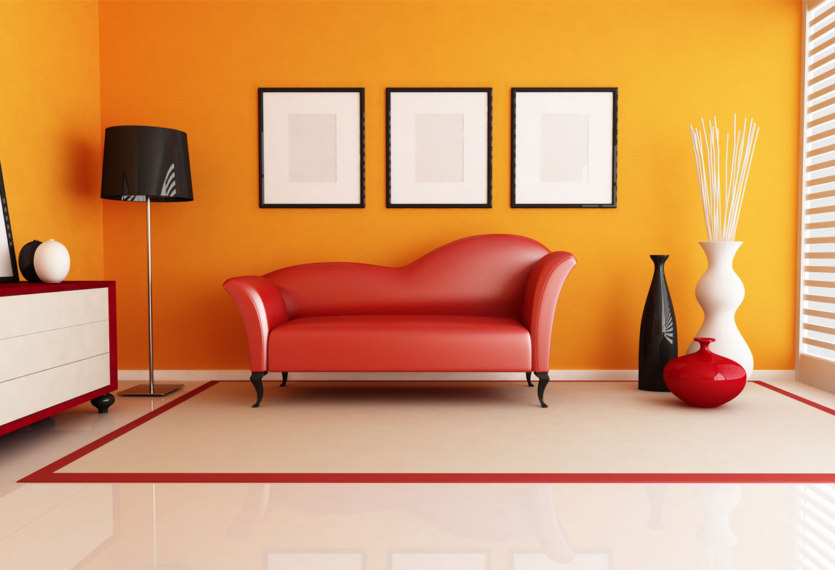 Interior Home painting ideas - Home wall painted in yellow color